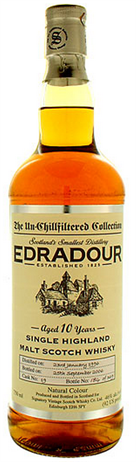 Edradour Scotch Single Malt Unchill Filtered 2003 Bottle By Signatory